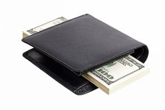 Stack of dollars in a wallet Stock Photo