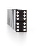 Stack of dominoes falling Royalty Free Stock Image