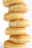 Stack of donuts on white background