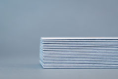 Stack of double-sided business cards, side view Royalty Free Stock Image