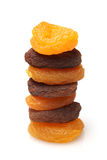 Stack of dried apricots Royalty Free Stock Photography