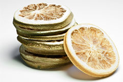 A stack of dried citrus chips Royalty Free Stock Photography