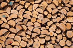 Stack of dried firewood Stock Image