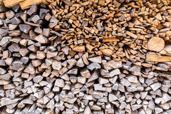 Stack of dried firewood of birch wood Royalty Free Stock Photos