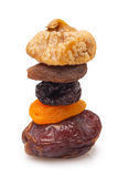 Stack of dried fruits Royalty Free Stock Photos