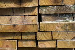 Stack of dried lumber Royalty Free Stock Image
