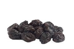 Stack of dried plums Royalty Free Stock Photo