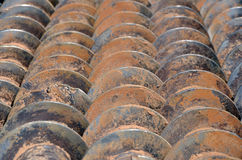 Stack of drills texture Royalty Free Stock Photo