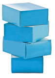 Stack of drugs boxes royalty free stock photography