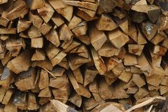 Stack of dry firewood. Can be used as background Royalty Free Stock Photography
