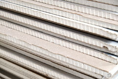 The stack of drywall. Photo of a stack of drywall from close range Stock Photos