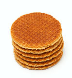 A stack of dutch waffles Royalty Free Stock Photo