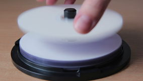 Stack of dvd stock video footage
