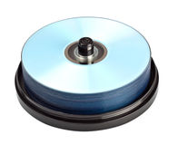 Stack of dvd recordables Stock Photos