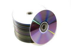 Stack of dvds Royalty Free Stock Photos