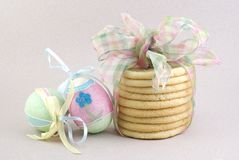 Stack of Easter Sugar Cookies Stock Images