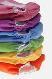 Stack of Eco Friendly Cloth Diapers stock photos