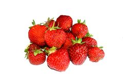 Stack of ed strawberries Royalty Free Stock Images