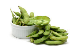 Stack of edamame royalty free stock images
