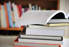 Stack of Education books Stock Images