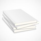 Stack of empty books with white cover Stock Image