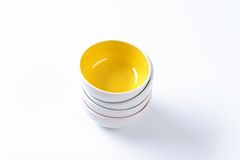 Stack of empty bowls Royalty Free Stock Photos
