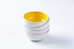 Stack of empty bowls Stock Images