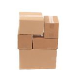 Stack of empty boxes. Royalty Free Stock Photography