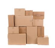 Stack of empty boxes. Stock Image