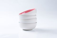 Stack of empty deep bowls Royalty Free Stock Photo