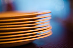 Stack empty plates Stock Photos