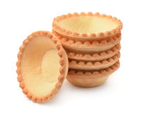 Stack of empty tart shells Royalty Free Stock Photography