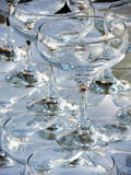 Stack of empty wine glasses Stock Photography