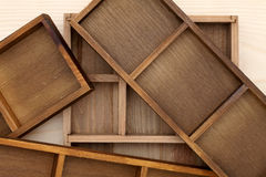 Stack of empty wooden box Royalty Free Stock Photography