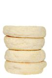 Stack of english muffins Royalty Free Stock Images