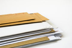 Stack of envelopes Royalty Free Stock Images