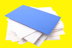 Stack of envelopes. Digital photo of a stack of envelopes Royalty Free Stock Photos