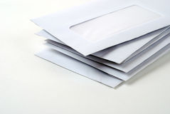 Stack of envelopes. A stack of blank envelopes on white background Royalty Free Stock Photography