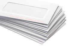 Stack of envelopes/letters Royalty Free Stock Photography