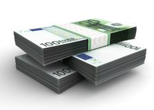 Stack of Euro. (with Clipping path Royalty Free Illustration