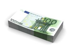 Stack of Euro. (computer generated image Royalty Free Illustration