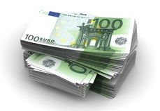 Stack of Euro. (computer generated image Stock Photos