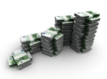 Stack of Euro. Stack of Money Concept (Computer generated image Stock Photo