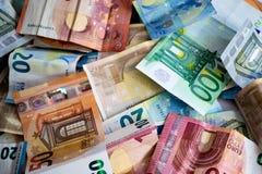 Stack of euro banknotes royalty free stock image