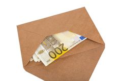 Stack of Banknotes in Envelope Royalty Free Stock Photo