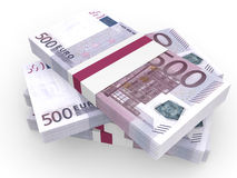Stack of EURO banknotes. Stock Images