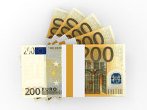 Stack of EURO banknotes. Stock Photos
