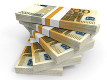 Stack of EURO banknotes. Stock Photography