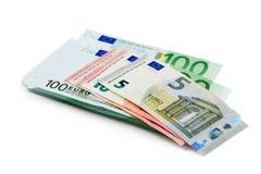 Stack of euro banknotes Stock Photos