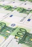 Stack of 100 euro bills Royalty Free Stock Photos